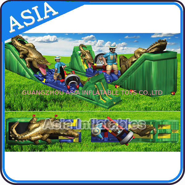 39'L Inflatable Giant High Grade Cartoon Painting Alligator Slide/Inflatable Alligator Slide