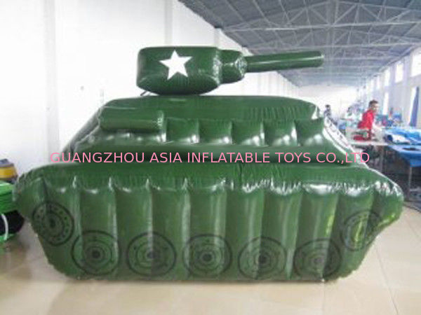 0.6mm / 0.9mm PVC Tarpaulin Fabric Inflatable Paintball Bunker ผู้ผลิต