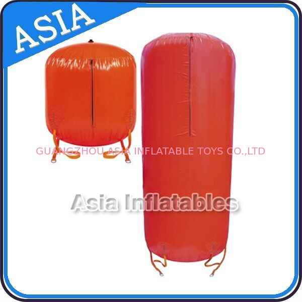 0.6mm PVC Lightweight Inflatable Red Cylinder Buoy Paintball Bunker For Sale ผู้ผลิต