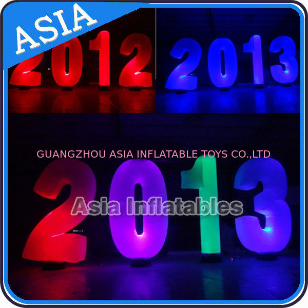 Inflatable Cone lighting led inflatable alphabet decoration at park or garden ผู้ผลิต